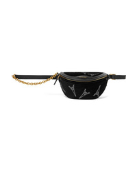 Balenciaga Souvenir Xxs Aj Crystal Embellished Velvet And Leather Belt Bag