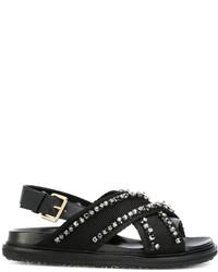 Marni Crystal Embellished Fussbett Sandals