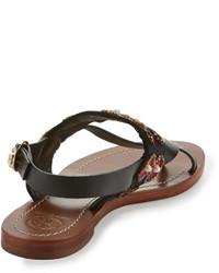 1409d6de93b ... Tory Burch Estella Embellished Flat Sandal ...