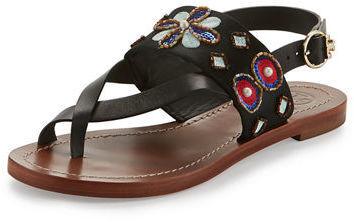 5e8b08f7346 ... Tory Burch Estella Embellished Flat Sandal ...