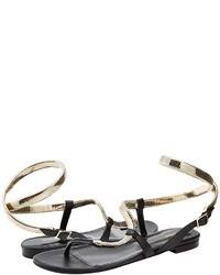 Roberto Cavalli Snake Flat Sandal Sandal