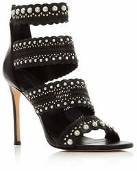 Pour La Victoire Ellura Embellished Leather High Heel Sandals