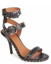 Givenchy Embellished Leather Ankle Strap Sandals