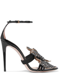 Embellished patent leather sandals black medium 6704979