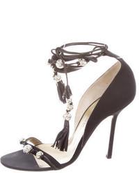 Givenchy Jewel Embellished Lace Up Sandals