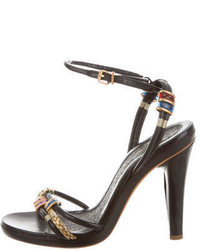 Marc Jacobs Leather Jewel Embellished Sandals