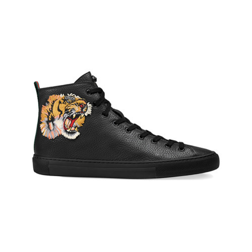 Gucci Leather High Top Sneaker With