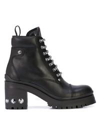 Miu Miu Rhinestone Embellished Hiking Style Boots
