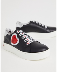 Love Moschino Sequin Heart Trainers