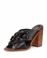 Etta jewel embellished mule black medium 4123262