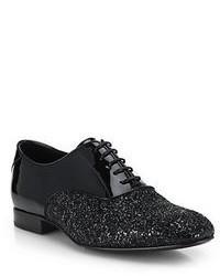 Jimmy Choo Barker Glitter Patent Oxford Shoes