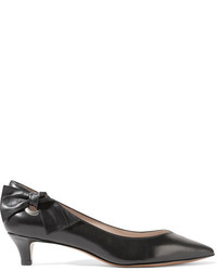 Marc Jacobs Ally Bow Embellished Leather Pumps Black
