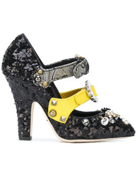 Dolce & Gabbana Buckle Strap Embellished Pumps