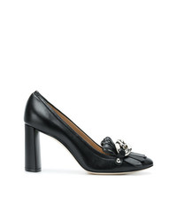 Casadei Chain Embellished Pumps