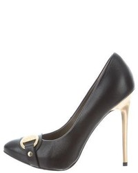 Versace Collection Leather Embellished Pumps