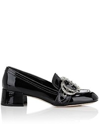 Miu Miu Embellished Buckle Patent Leather Pumps