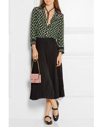 49789dde868e ... Gucci Embellished Leather Mary Jane Pumps Black ...
