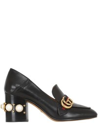 Gucci 75mm Peyton Embellished Leather Pumps