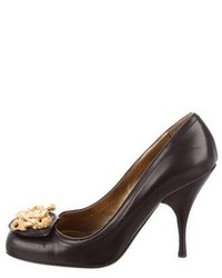 Miu Miu Leather Embellished Pumps