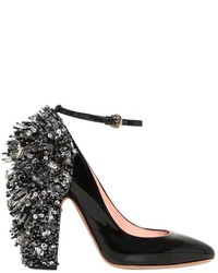 Rochas 110mm Embellished Patent Leather Pumps
