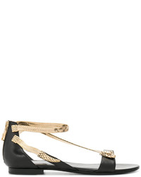 Roberto Cavalli Open Toe Embellished Sandals