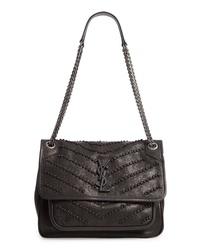 Saint Laurent Mediuim Niki Knot Detail Lambskin Leather Shoulder Bag