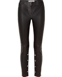 Loewe Embellished Leather Skinny Pants