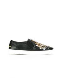 Dolce & Gabbana Candlestick Embellished Slip On Sneakers