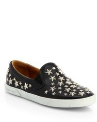 Jimmy Choo Demi Star Studded Leather Slip Ons