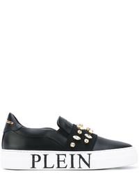 Philipp Plein Embellished Slip On Sneakers