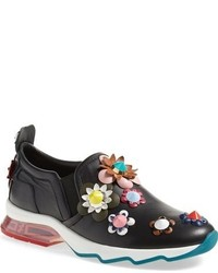 Fendi Ffast Embellished Slip On Sneaker