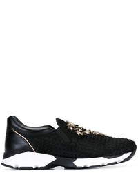 Rene Caovilla Ren Caovilla Embellished Slip On Sneakers