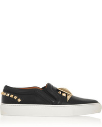 Givenchy Slip On Sneakers In Studded Black Leather