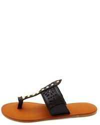 f0c07674099d ... Charlotte Russe Laser Cut Studded Toe Loop Thong Sandals