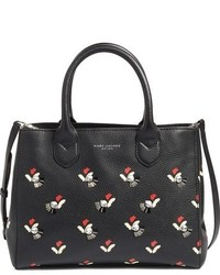 Marc Jacobs Gotham City Embellished Leather Tote Black
