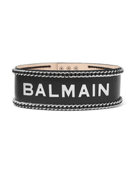 Balmain Embellished Leather Waist Belt