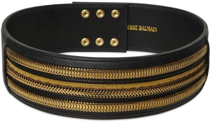 bc6326c0d0 PIERRE BALMAIN Embellished Leather High Waist Belt, $486 ...