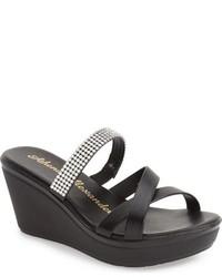 Athena Alexander Mistye Crystal Embellished Wedge Sandal
