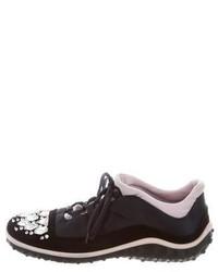 Miu Miu Crystal Embellished Low Top Sneakers
