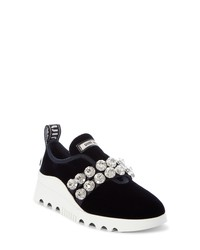 Miu Miu Jewel Strap Slip On Sneaker
