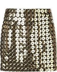 Moschino Button Embellished Mini Skirt