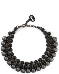 Black Embellished Necklace