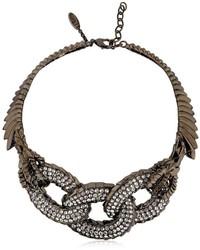 Giuseppe Zanotti Design Swarovski Embellished Chain Choker