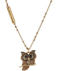 Marc Jacobs Embellished Owl Necklace