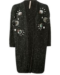 Antonio marras embellished ribbed cardigan medium 74458