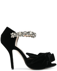 No.21 No21 Embellished Strap Open Toe Pumps