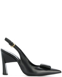 Marni Rectangle Embellished Slingback Pumps
