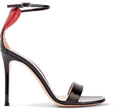 ... Gianvito Rossi Love Portofino 110 Embellished Patent Leather Sandals  Black ... 12c03f77df