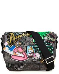 Marc Jacobs Paradise Small Embellished Messenger Bag Black