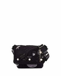 Marc Jacobs Rummage Small Embellished Messenger Bag Black